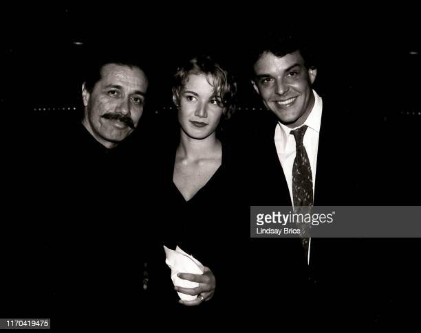 Edward James Olmos Emily Lloyd and Danny Huston at the ACLU of Southern California Bill of Rights Dinner honoring Robert Graham and Anjelica Huston...