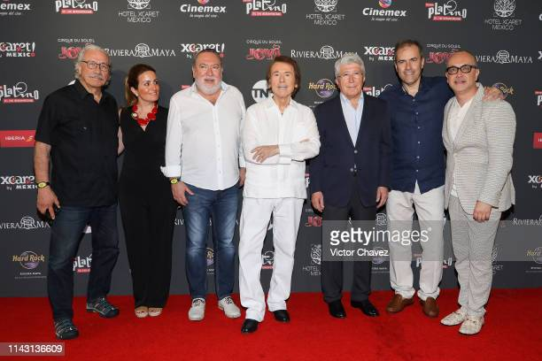 Edward James Olmos guest Adrian Solar Spanish singer and actor Raphael President of EGEDA Enrique Cerezo Miguel Angel Benzal and Juan Carlos...