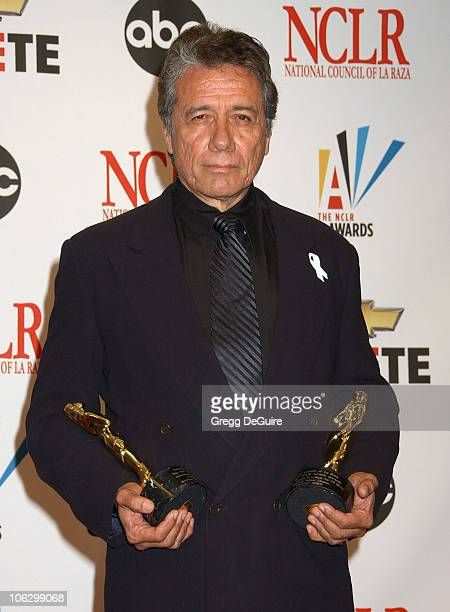 """Edward James Olmos, winner Best Actor, Television Series, Mini-Series or TV Movie for """"Battlestar Galactica"""" and Best TV Director for """"Walkout"""""""