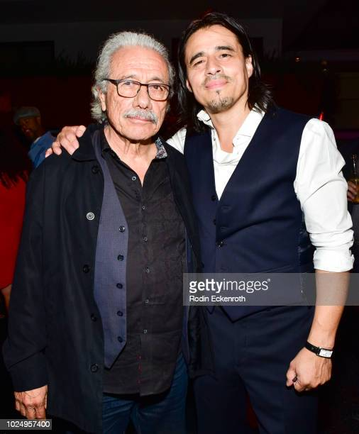 Edward James Olmost and Antonio Jaramillo at the premiere of FX's 'Mayans MC' after party on August 28 2018 in Hollywood California
