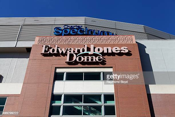 Edward Jones Dome home of the St Louis Rams football team in St Louis Missouri on November 15 2015