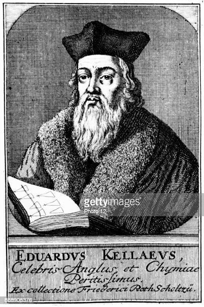 Edward Kelley English astrologer and alchemist Assistant to John Dee Copperplate engraving circa 1700