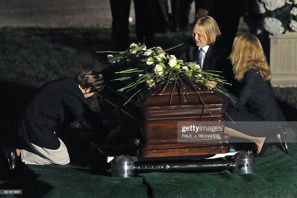 Senator Edward Kenedy Casket: Edward Kennedy III Crys Over The Casket Of US Senator