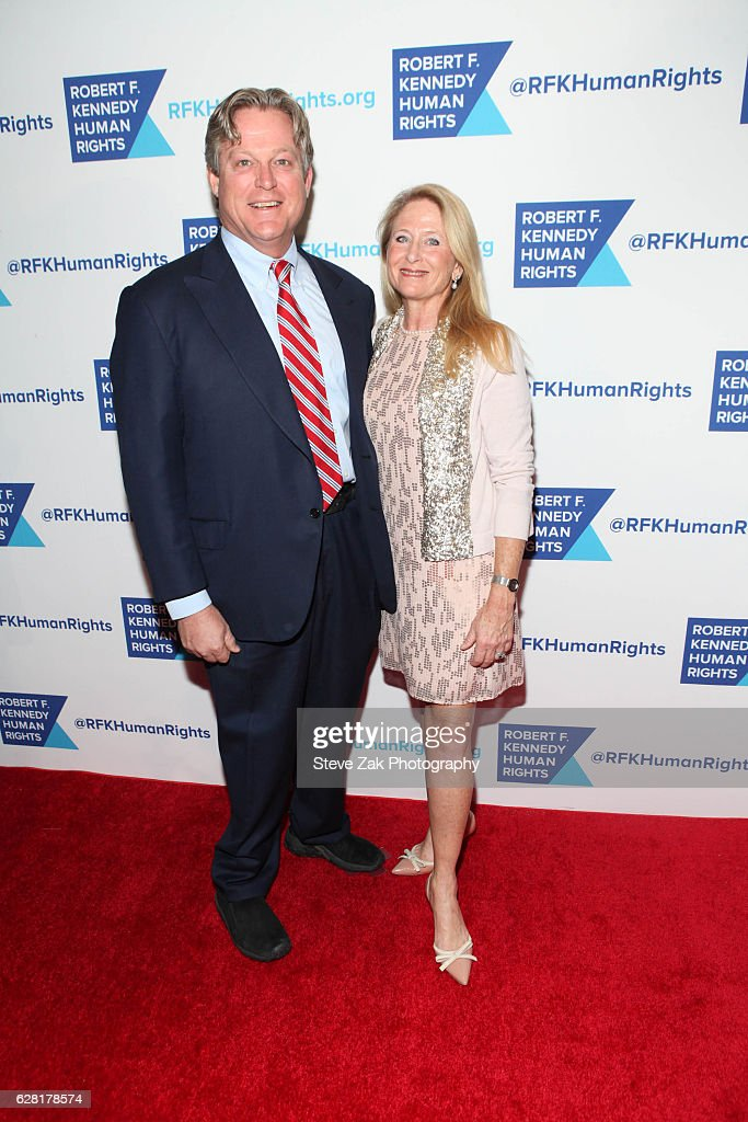 Edward Kennedy Jr and Katherine Anne Gershman Kennedy attend 2016 Robert F. Kennedy Human Rights' Ripple of Hope Awards at New York Hilton Midtown on December 6, 2016 in New York City.
