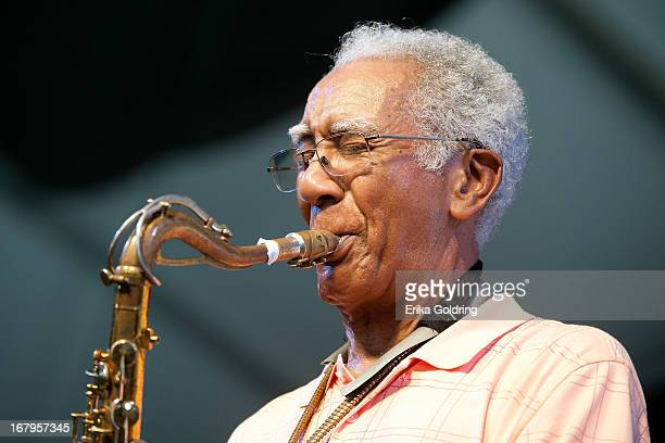 """Edward """"Kidd"""" Jordan performs during the 2013 New Orleans Jazz & Heritage Music Festival at Fair Grounds Race Course on May 2, 2013 in New Orleans,..."""