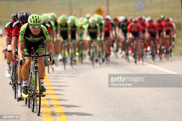 Edward King of United States riding for Cannondale-Garmin drives the peloton during Stage One of the 2015 USA Pro Cycling Challenge on August 17,...