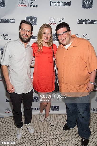Edward Kitsis Elizabeth Lail and Adam Horowitz attend the Ugly Betty Reunion After Party presented with Entertainment Weekly sponsored by Toyota at...