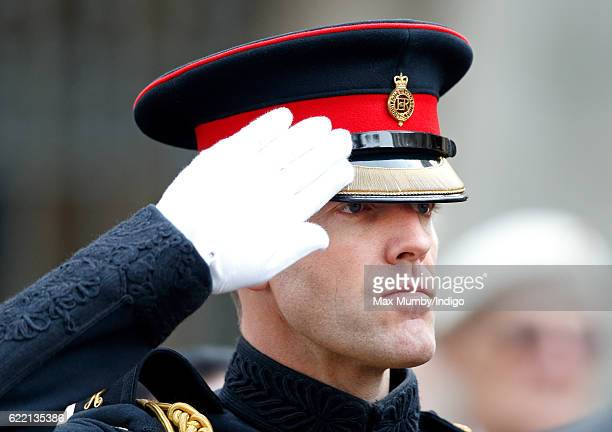 Edward Lane Fox attends the opening of the Field of Remembrance at Westminster Abbey on November 10 2016 in London England