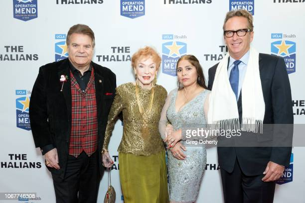 Edward Lozzi Jeraldine Saunders Delores Acevedo and Tim Harper attend The Thalians Holiday Party with Kira Reed Lorsch as Chair at Bel Air Country...