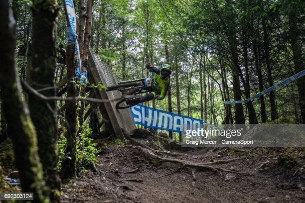 Edward Masters of New Zealand in action in the Men's Downhill during the UCI Mountain Bike World Cup on June 4 2017 in Fort William Scotland