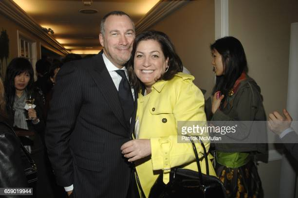 Edward Menicheschi and Connie Anne Phillips attend The WORLD of BOTTEGA VENETA Cocktail Party at Bergdorf Goodman on April 14 2009 in New York City