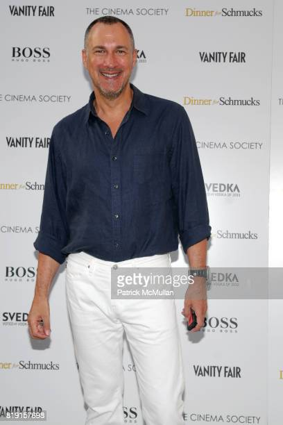 Edward Menicheschi attends THE CINEMA SOCIETY with VANITY FAIR HUGO BOSS host a screening of 'DINNER FOR SCHMUCKS' at East Hampton UA Cineman on July...
