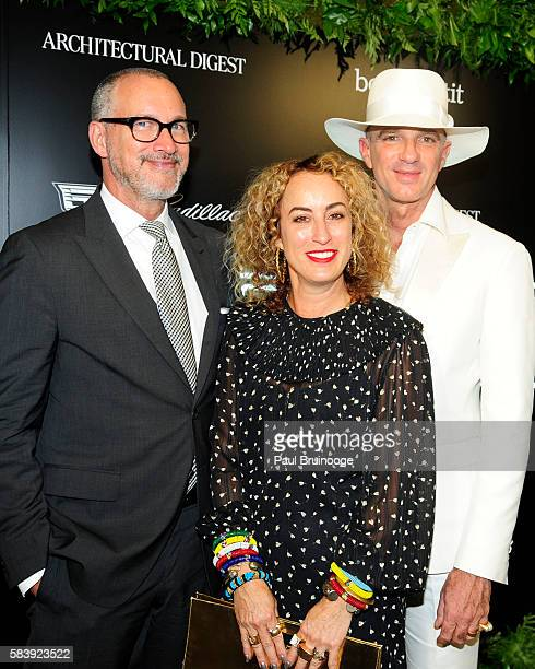 Edward Menicheschi Danielle Levitt and Alan Faena attends the Conde Nast Presents the Daring 25 in Partnership with Cadillac at the Cadillac House on...