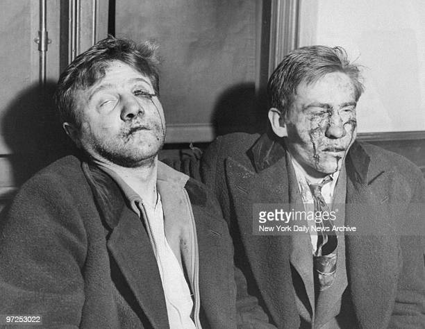 Edward Metelski and Paul Semenkewitz are bruised and bleeding after they killed a cop and escaped from Middlesex County Jail and were recaptured by...