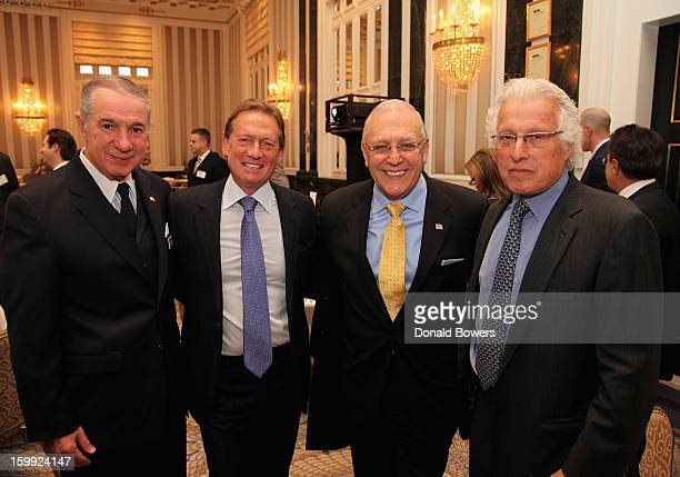 Edward Miller Richard Fields Robert Catell and Marty Edelman attend the State of the NYPD address during The NYC Police Foundation Breakfast on...
