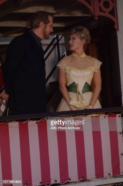 Edward Mulhare, Hope Lange appearing on the Walt Disney Television via Getty Images's 'The Ghost & Mrs Muir' episode 'Centennial'.