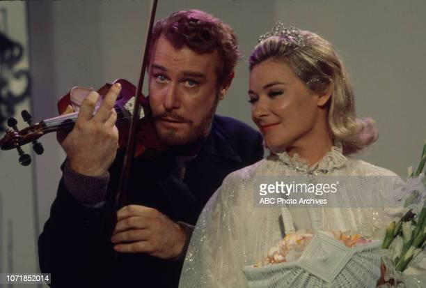 Edward Mulhare Hope Lange appearing on the Walt Disney Television via Getty Images's 'The Ghost Mrs Muir' episode 'Not So Faust'