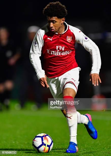 Edward Niketiah of Arsenal U23s during Premier League International Cup Group E match between Arsenal Under 23s vs FC Porto Under 23s at Borehamwood...