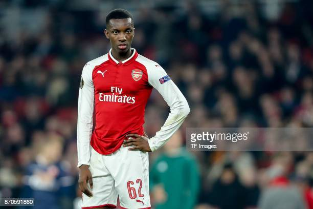 Edward Nketiah of Arsenal looks on during UEFA Europa League Group H match between Arsenal and Red Star Belgrade at The Emirates London 2 Nov 2017