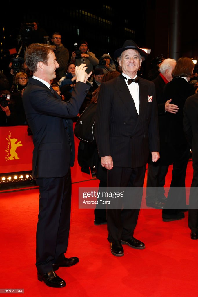 Edward Norton and Bill Murray attend 'The Grand Budapest Hotel' Premiere and opening ceremony during the 64th Berlinale International Film Festival at Berlinale Palast on February 6, 2014 in Berlin, Germany.