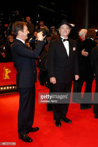 Edward Norton and Bill Murray attend 'The Grand Budapest Hotel' Premiere and opening ceremony during the 64th Berlinale International Film Festival...