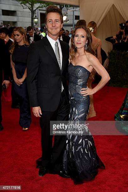 Edward Norton and Shauna Robertson attend the China Through The Looking Glass Costume Institute Benefit Gala at the Metropolitan Museum of Art on May...