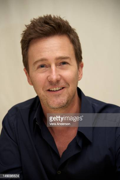 """Edward Norton at """"The Bourne Legacy"""" Press Conference at the Four Seasons Hotel on July 20, 2012 in Beverly Hills, California."""