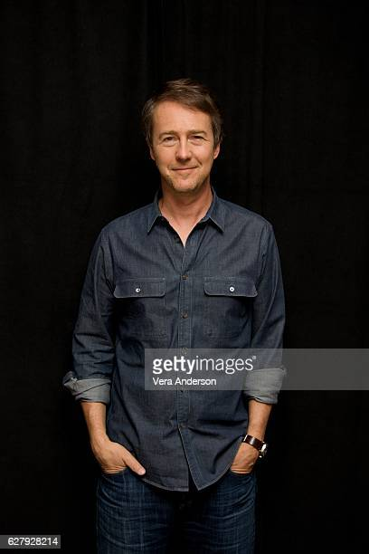 Edward Norton at the 'Collateral Beauty' Press Conference at the Crosby Street Hotel on December 3 2016 in New York City