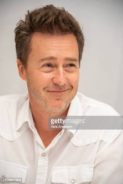 Edward Norton at the Motherless Brooklyn Press Conference at the Four Seasons Hotel on September 19 2019 in Beverly Hills California