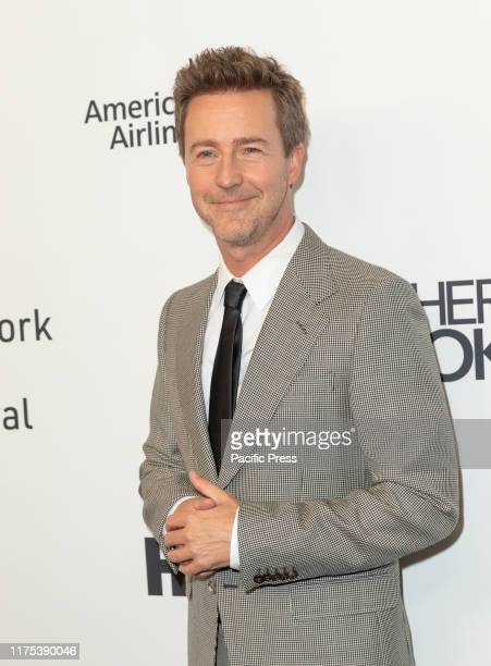 Edward Norton attends Motherless Brooklyn premiere during 57th New York Film Festival at Alice Tully Hall