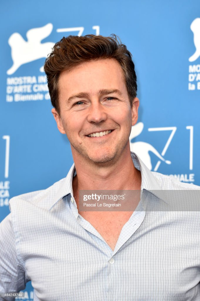 Edward Norton attends the 'Birdman' photocall during the 71st Venice Film Festival on August 27, 2014 in Venice, Italy.