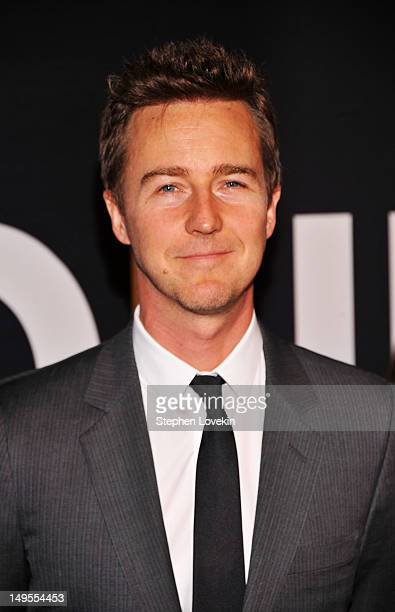 """Edward Norton attends """"The Bourne Legacy"""" New York Premiere at Ziegfeld Theater on July 30, 2012 in New York City."""