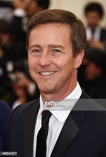 Edward Norton attends the Charles James Beyond Fashion Costume Institute Gala at the Metropolitan Museum of Art on May 5 2014 in New York City