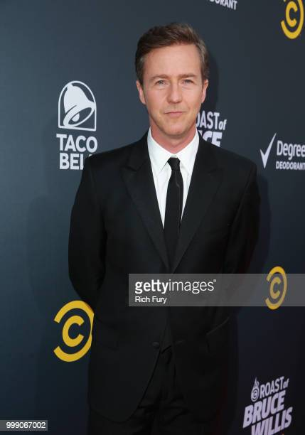 Edward Norton attends the Comedy Central Roast of Bruce Willis at Hollywood Palladium on July 14 2018 in Los Angeles California