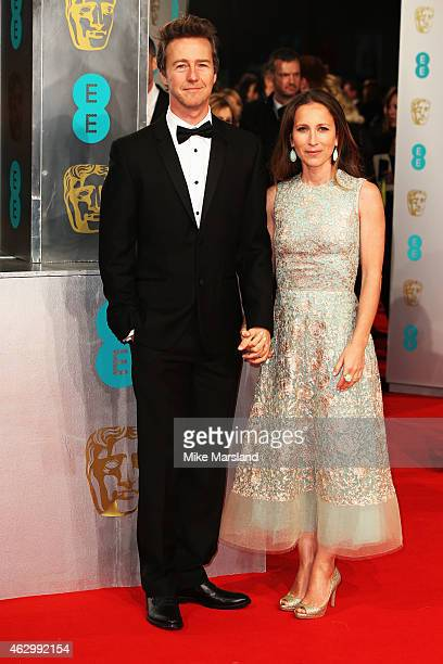 Edward Norton attends the EE British Academy Film Awards at The Royal Opera House on February 8 2015 in London England