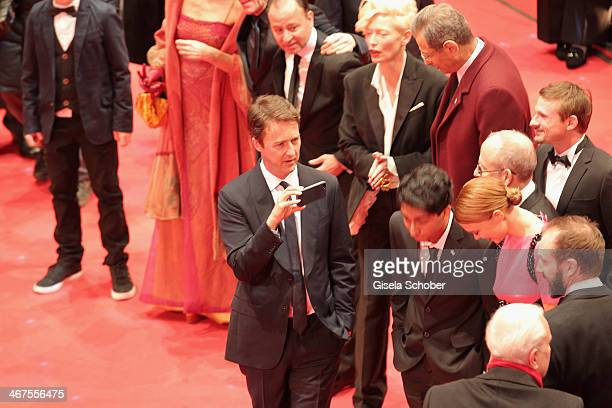 Edward Norton attends 'The Grand Budapest Hotel' Premiere during the 64th Berlinale International Film Festival at Berlinale Palast on February 6...