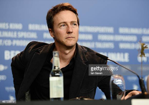 Edward Norton attends 'The Grand Budapest Hotel' press conference during 64th Berlinale International Film Festival at Grand Hyatt Hotel on February...