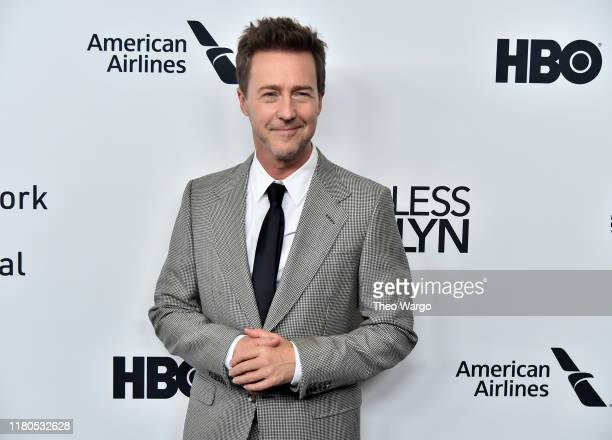 """Edward Norton attends the """"Motherless Brooklyn"""" Arrivals during the 57th New York Film Festival on October 11, 2019 in New York City."""
