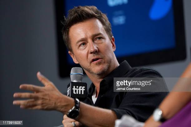 """Edward Norton attends the """"Motherless Brooklyn"""" press conference during the 2019 Toronto International Film Festival at TIFF Bell Lightbox on..."""