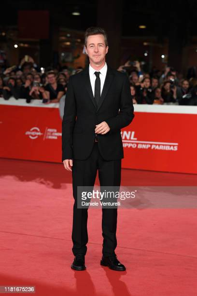 Edward Norton attends the Motherless Brooklyn red carpet during the 14th Rome Film Festival on October 17 2019 in Rome Italy