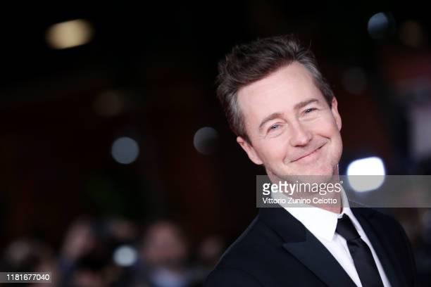 """Edward Norton attends the """"Motherless Brooklyn"""" red carpet during the 14th Rome Film Festival on October 17, 2019 in Rome, Italy."""