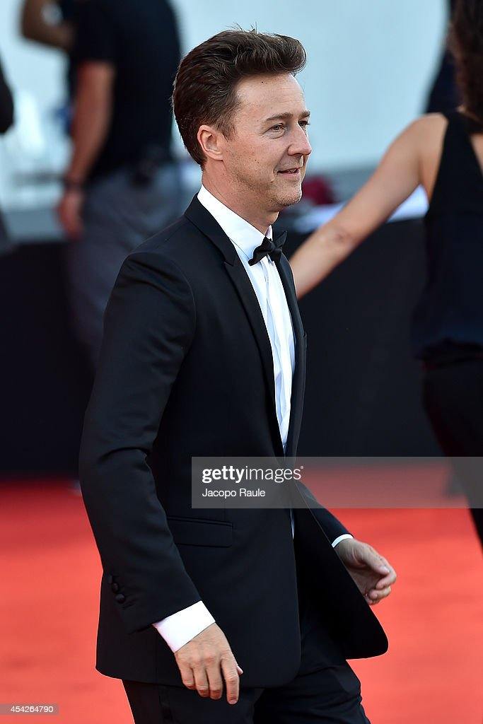 Edward Norton attends the Opening Ceremony and 'Birdman' premiere during the 71st Venice Film Festival at Palazzo Del Cinema on August 27, 2014 in Venice, Italy.