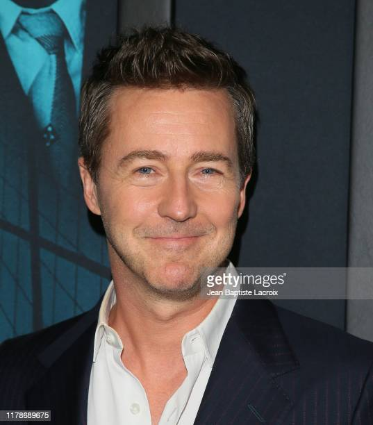 """Edward Norton attends the Premiere of Warner Bros. Pictures' """"Motherless Brooklyn"""" at Hollywood Post 43 on October 28, 2019 in Los Angeles,..."""