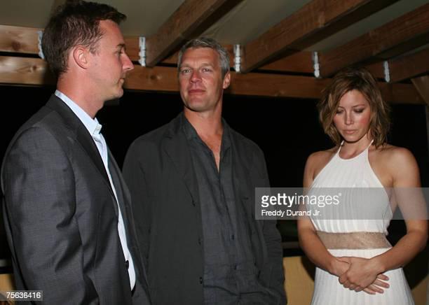 Edward Norton director Neil Burger and Jessica Biel