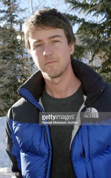 Edward Norton during 2004 Sundance Film Festival 'Dirty Work' Outdoor Portraits in Park City Utah United States