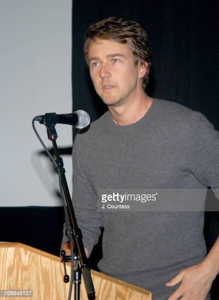 Edward Norton during 2004 Sundance Film Festival Dirty Work Premiere at Prospector in Park City Utah United States