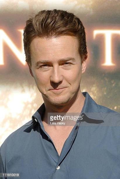 Edward Norton during Edward Norton Attends a Photocall for The Illusionist in Madrid November 15 2006 at Villamagna Hotel in Madrid Spain