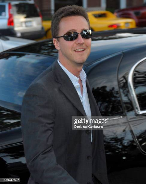 Edward Norton during The Cinema Society and The Wall Street Journal Host The Illusionist Arrivals at Southampton UA Cinema in Southampton New York...