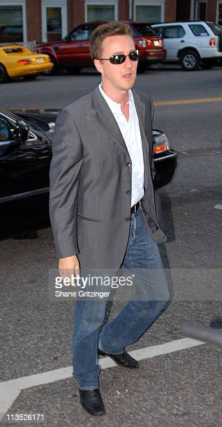 """Edward Norton during The Cinema Society and The Wall Street Journal host """"The Illusionist"""" - Arrivals at Southampton UA Cinema in Southampton, New..."""
