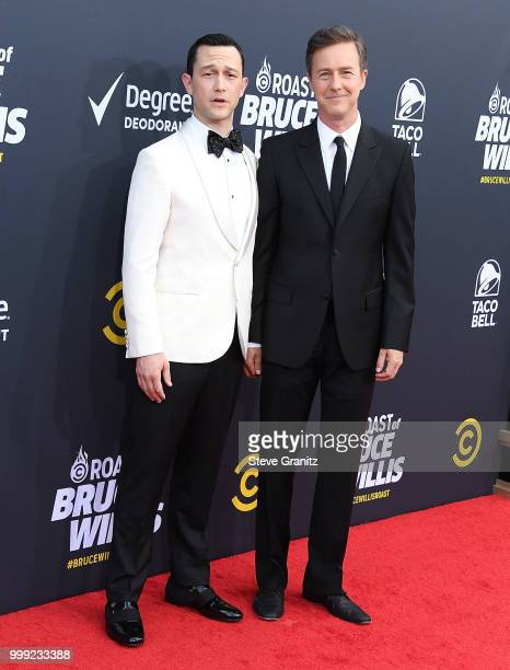 Edward Norton Joseph GordonLevitt arrives at the Comedy Central Roast Of Bruce Willis on July 14 2018 in Los Angeles California